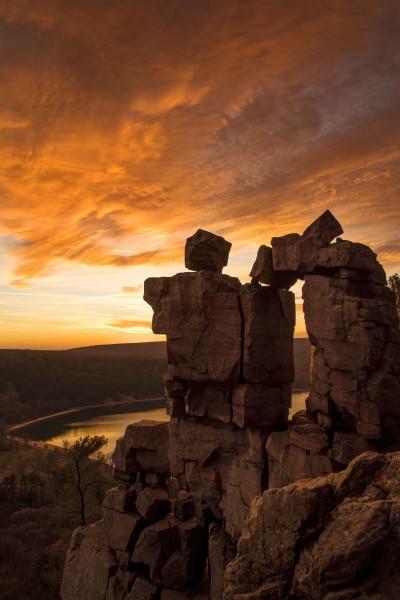 Devil's Sunset (Framed Photograph)