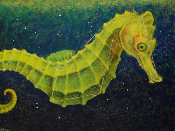 Space Seahorse (constellation Hippocampus)