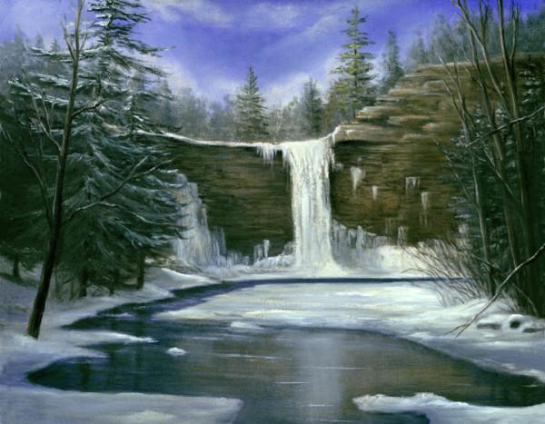 Awosting Falls- Winter