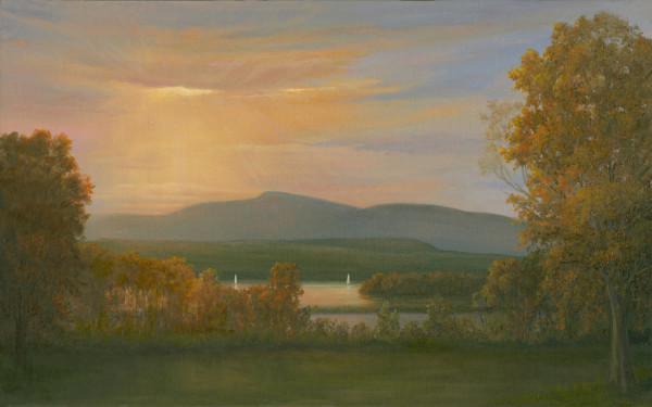 Sunset over the Hudson from Bard College
