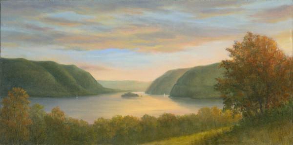 Dramatic Sunset over the Hudson Highlands