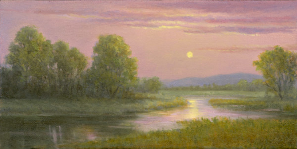 Pink and lavendar sunset over the marsh