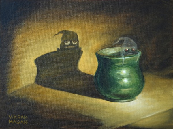Green Pot, With Apathetic Phantom