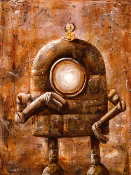 Robot With Mysterious Spacegirl