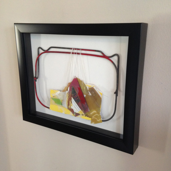 """Example of a Framed """"Intuitive Trainings"""" wall sculpture"""