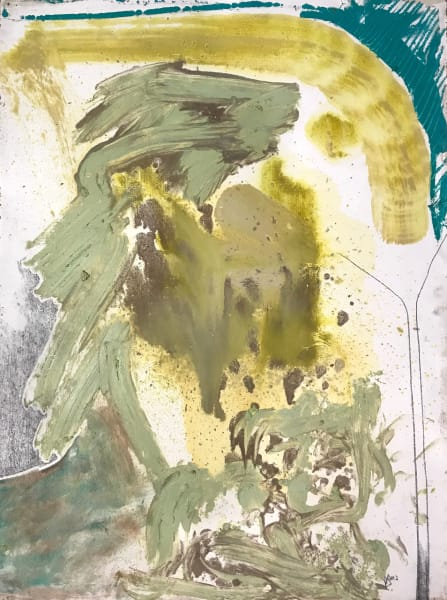 Untitled (light green and teal)