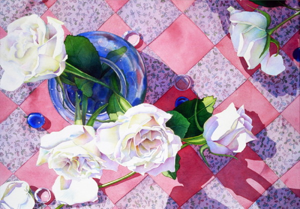 White Roses and Quilt