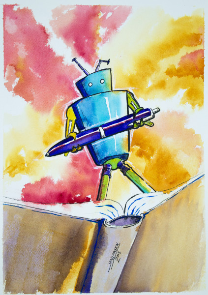 Pen and Book Robot