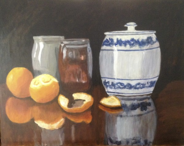 Blue Onion with oranges