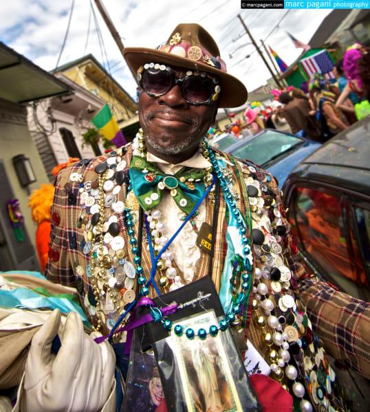 Button Man - Mardi Gras Day