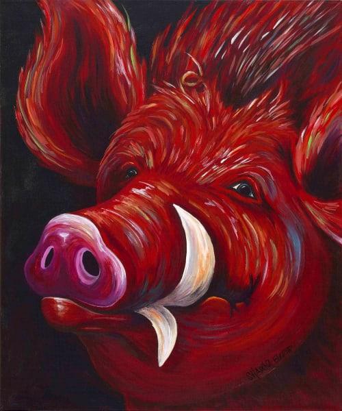 Hog Fan In Red