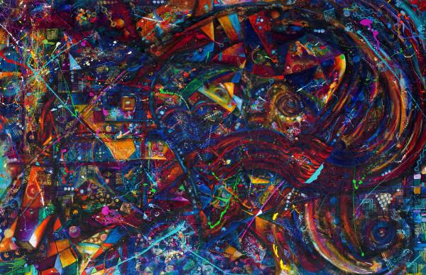 Abstract DropCloth Vortex I