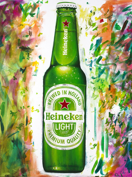 Heineken Mardi Gras Campaign Creative - Light Bottle