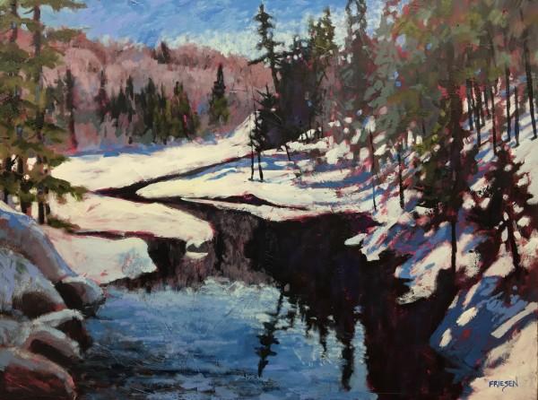 Winter Running River
