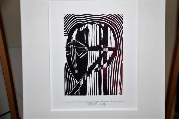 Linocut V.E. print, 2/20, Cruciform Variation 3.0