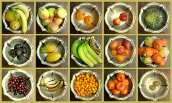 Fruit In Silver Bowls