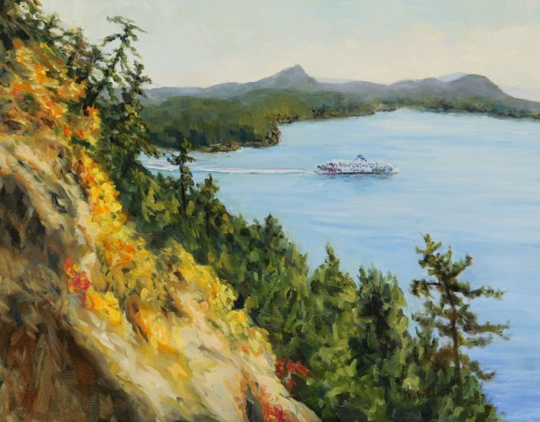 Collison Point View of Mayne Island