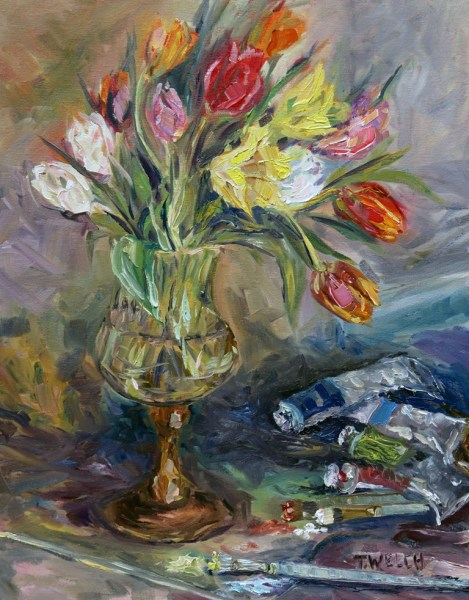 Tulips in the Studio