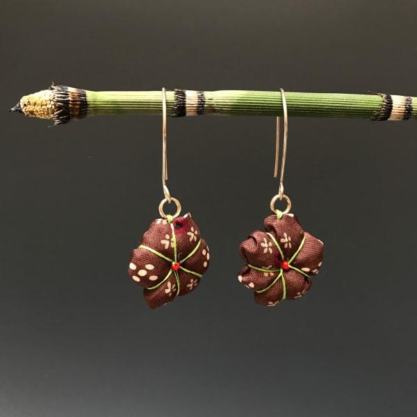 Japanese Silk Flower Earrings