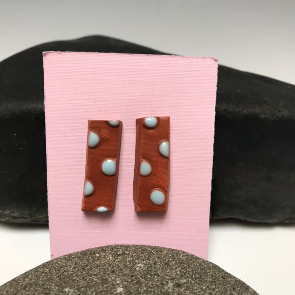 Blue Dotted Ear Bling