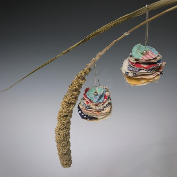 Stacked Fabric Earrings