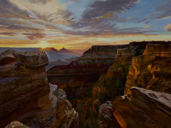 """Sunrise over Mather's Point"""