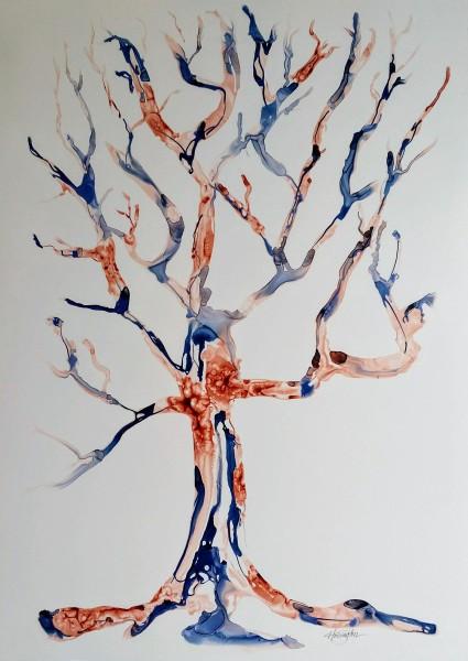 Burnt & Blue Tree