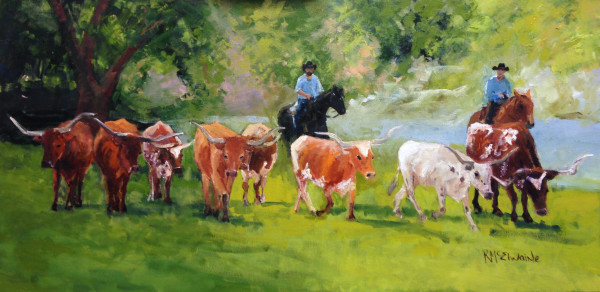 (Sold) Cattle Drive San Gabriel River