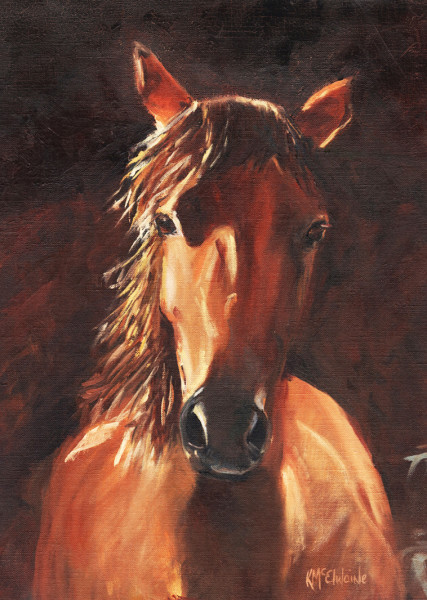 SOLD No Fences Giclee Prints available