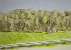 Abandoned Farm, April Treeline