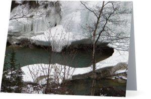 Toby creek wintertime near panorama oahost