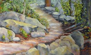 Pathway through the woods pxs4jk