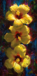 Past_present_future-_yellow_hibiscus-18x36