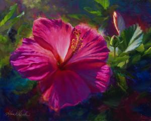 Sunrise_sonnet_-pink_hibiscus-_16x20_yeuqja