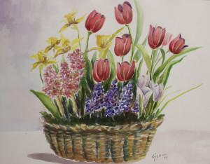 Perron donna basket of tulips