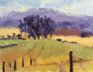 Grand mesa orchard plein air prelim yhuled