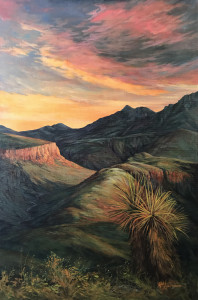 Sunset on land untamed 36x24 oil lindy c severns web aqzaqm