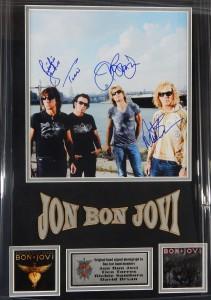 Bon Jovi Full Band Signed Photo