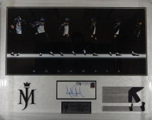 Michael Jackson Moonwalk Poster and Signed Envelope