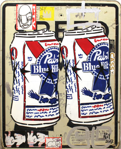 Crushed PBR Cans