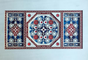 Untitled Study (Inlays in Blue and Red)
