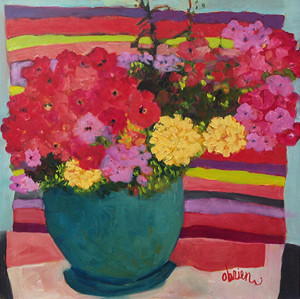 Marigolds and Impatiens