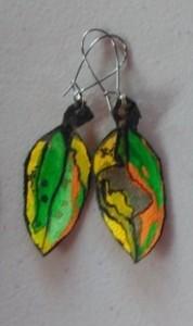 Pohutukawa Leaf Earrings 155