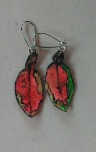 Pohutukawa Leaf Earrings 160
