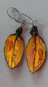 Pohutukawa Leaf Earrings 162