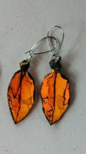 Pohutukawa Leaf Earrings 168