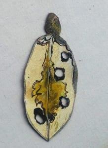 Pohutukawa Leaf .  421