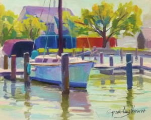 Unwind at the dock   oil on canvas panel   8x10 i9oso6