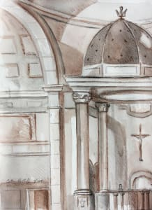 Immaculata: drawing in stabillo pencil