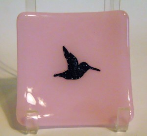 Small Sushi-Pink with Copper Hummingbird